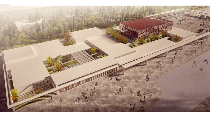 mimarlık ofisi çanakkale araştırma merkezi istanbul mimarlık firmaları müze render