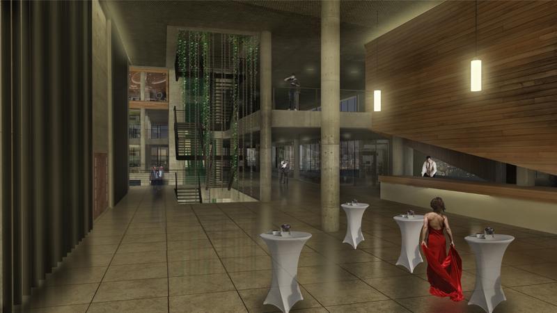 dodofis mimarlık ofisi kayseri hizmet binası iç mekan render office building