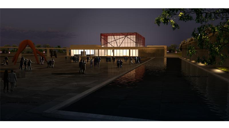 mimarlık ofisi çanakkale araştırma merkezi istanbul mimarlık firmaları müze gece render