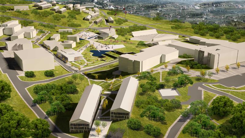 düzce üniversitesi gelişim planı kentsel tasarım dodofis mimarlık render 2