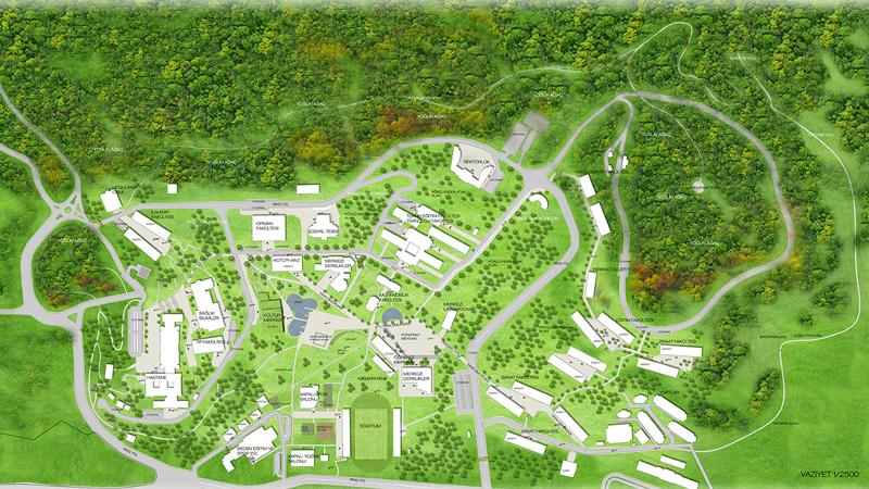 düzce üniversitesi gelişim planı kentsel tasarım master plan dodofis mimarlık