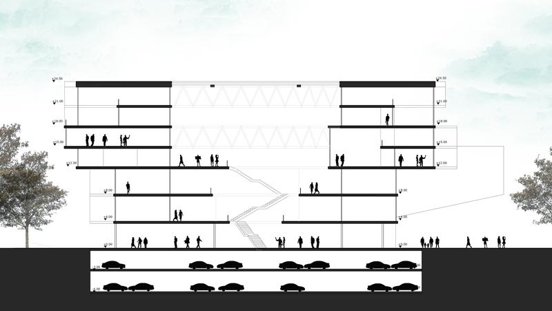 dodofis mimarlık ofisi mersin ticaret odası kesit