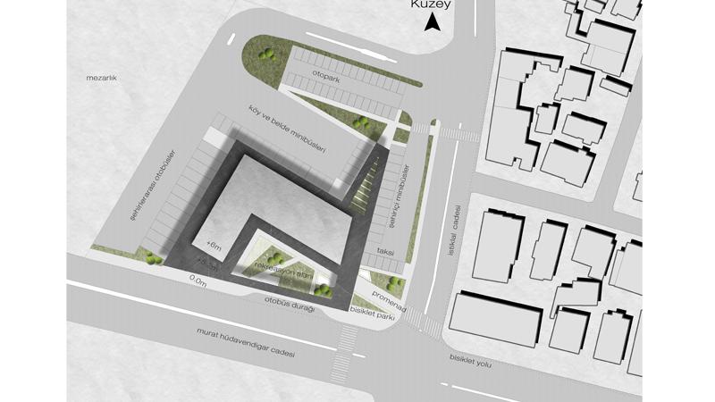 dodofis mimarlık ofisi  otobüs terminali vaziyet bus terminal