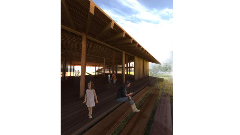 dodofis mimarlık ofisi ytong semt kültür ve sosyal etkinlik evi peyzaj iskelesi görsel 2 landscape