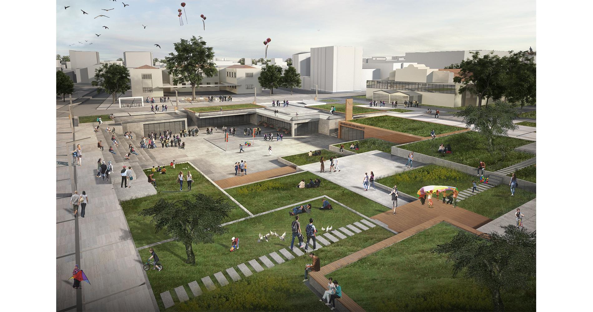 dodofis mimarlık akhisar belediye meydanı