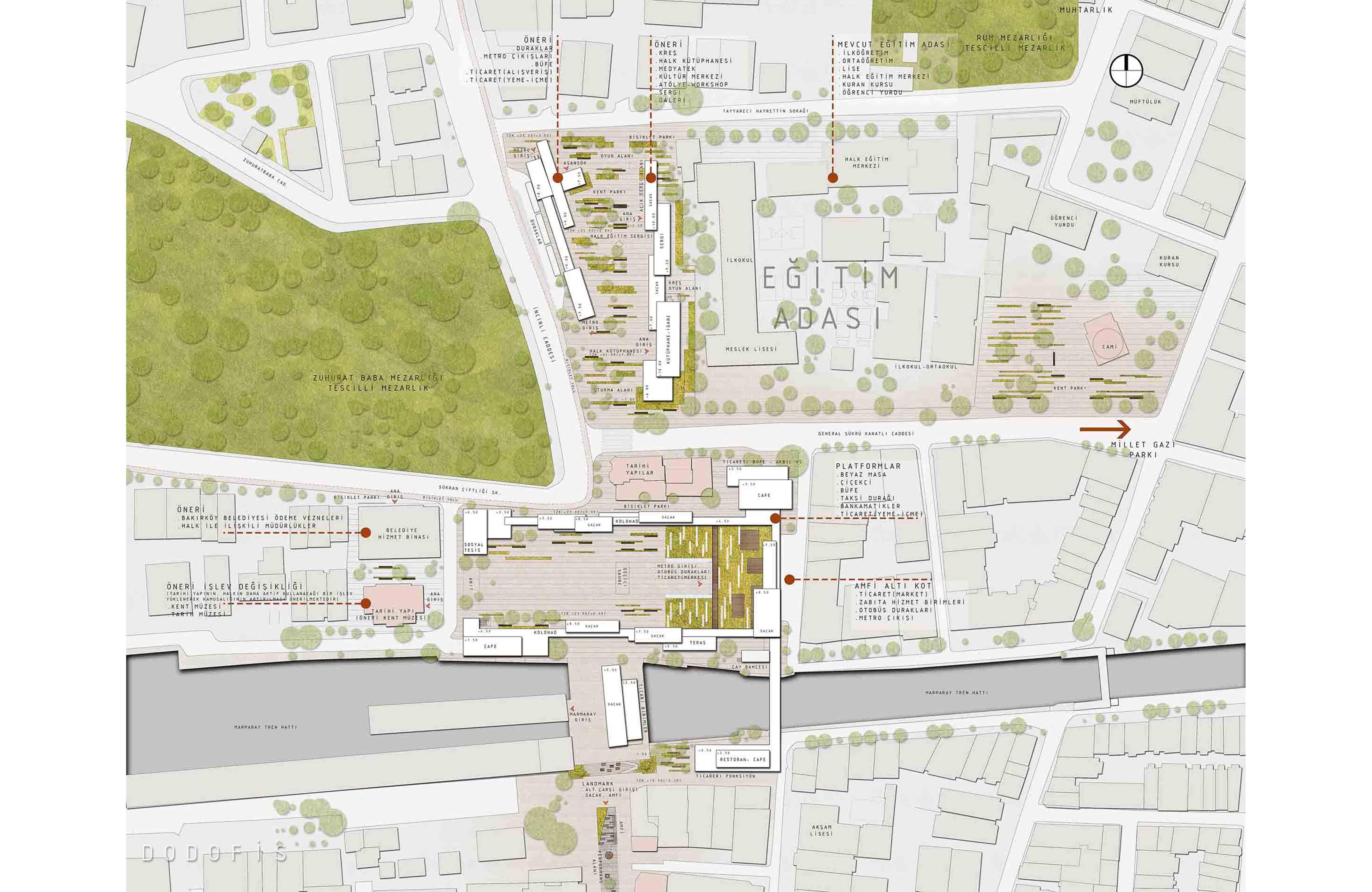 dodofis mimarlık bakırköy meydanı kentsel tasarım projesi
